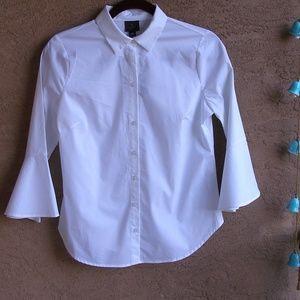 Worthington White Cotton Dress Shirt Size PS